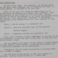 Egy rádióhirdetés jegyzete