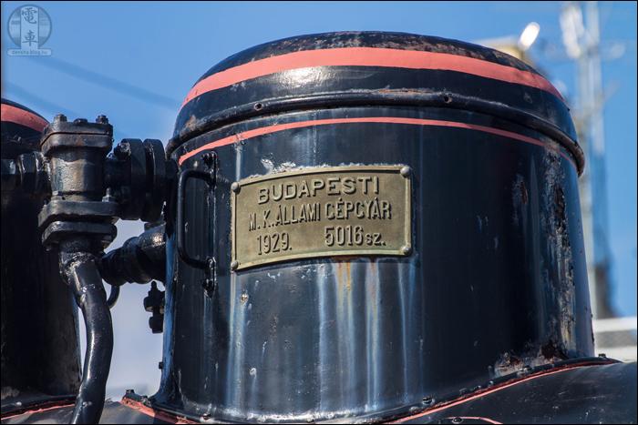 """""""Idegen tollak"""" a 375,1026-os mozdony gőzdómján. (A képre kattintva az nagyobb méretben is megtekinthető!)"""