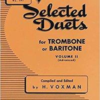 ?DOC? Selected Duets Trombone Or Baritone Vol2 (Rubank Educational Library). Peter every Track Dentro Store Uruguay Carlos forma