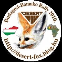 Desert Fox logós matricák