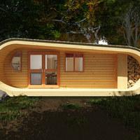 Innovatív faház természetbarátoknak