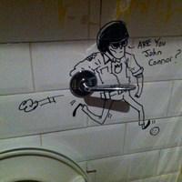 Terminator WC graffiti
