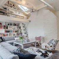 Okos design ötletek egy stockholmi tetőtéri lakásból
