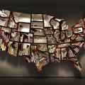 USA könyves szekrény
