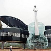 Érdekes zongora ház Kínában