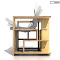 Könyvespolc szék