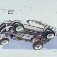 Back to the Future 2 - design sketchek
