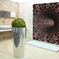 Mozaikalagút a fürdőszoba falán