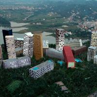 Díjnyertes összedőlő épületek Albániában