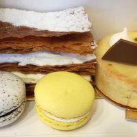 Gerbeaud cafe francia sütiválogatása