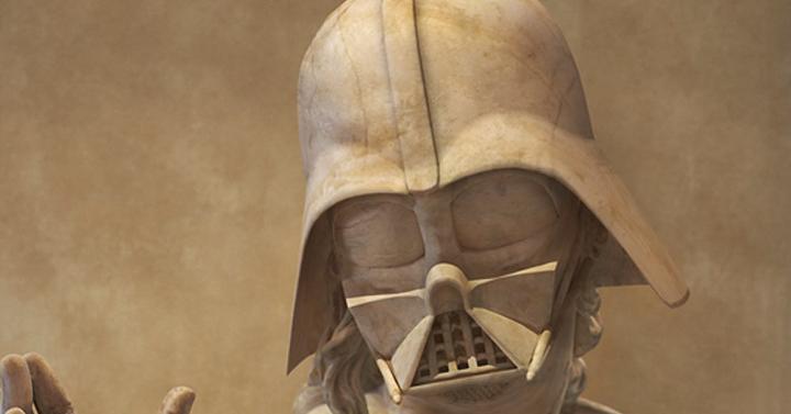 Star Wars szereplők ókori görög szobrok stílusában