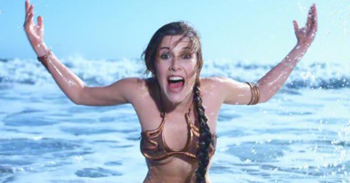 Így reklámozta 1983-ban Carrie Fisher a Star Warst
