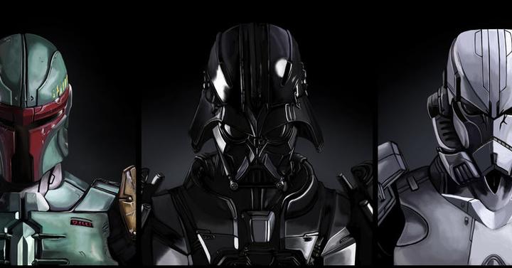 Brutálisan király Star Wars portrék