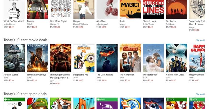 Többezer játékot és filmet ad 10 centért a Windows 10