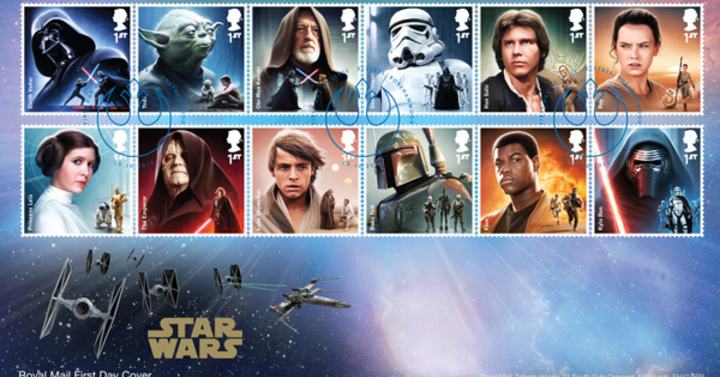 Star Wars bélyegek a brit Királyi Postától