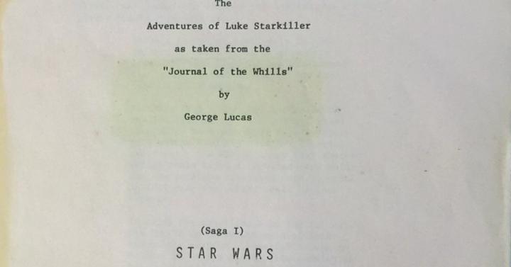 Csubi megosztotta az eredeti Star Wars forgatókönyv részleteit a Twitteren