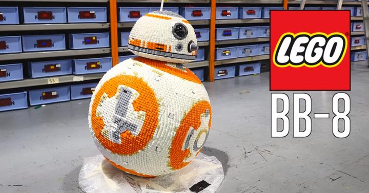 Így épül az életnagyságú BB-8 LEGO