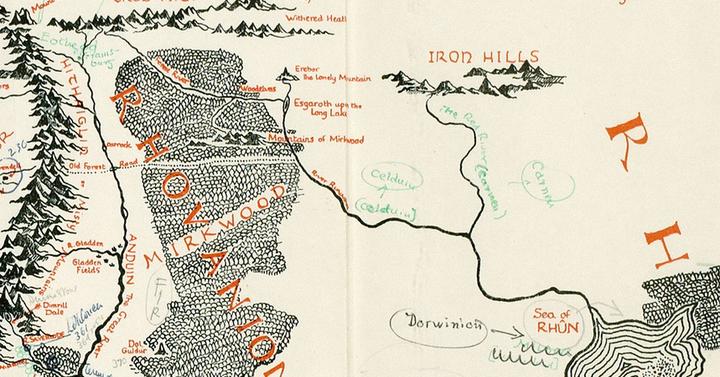 Középfölde térképet találtak Tolkien saját kezű javaslataival