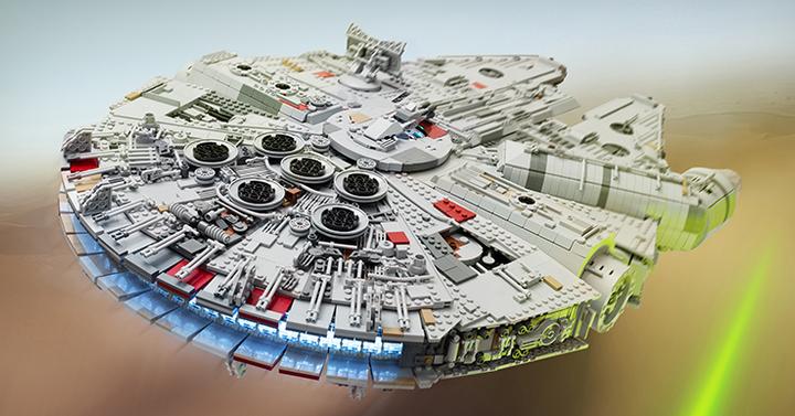 Több mint egy évig készült ez a 7500 darabos LEGO Millenium Falcon