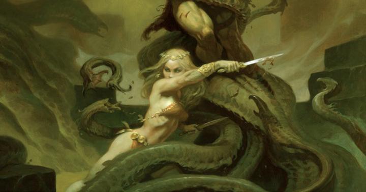 Kegyetlenül menő lett a Conan asztali szerepjáték borítófestménye