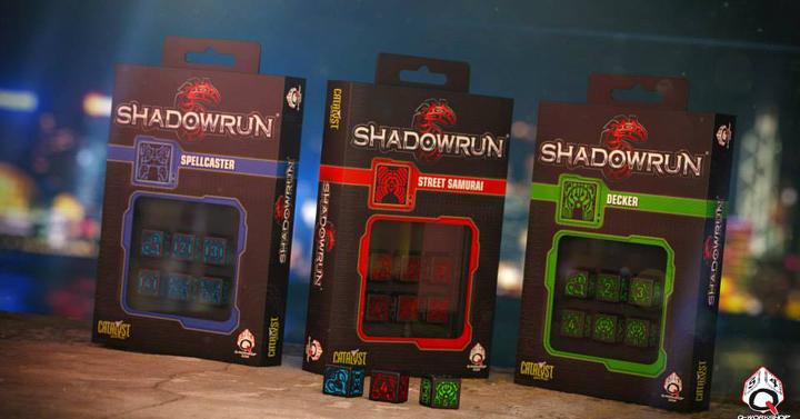 A Q-Workshop Shadowrun kockakészletei kegyetlen jól néznek ki