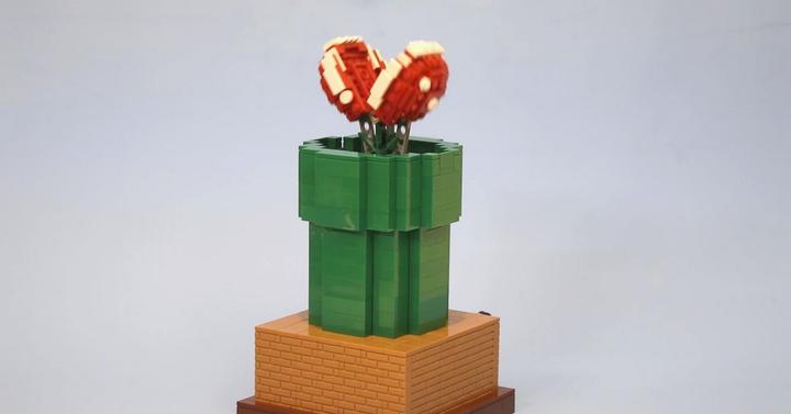 LEGO-ból készítették el a Super Mario harapós növényét