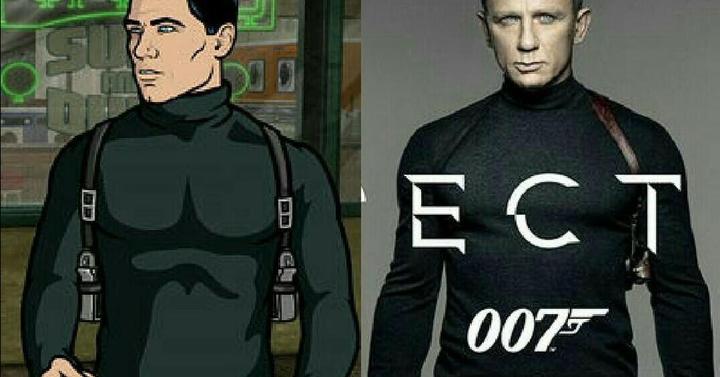 Archer és James Bond együtt