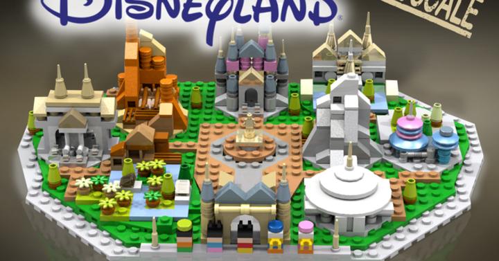 Így néz ki a mikroméretű LEGO Disneyland