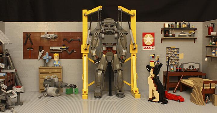 Fallout 4 Power Armor és Dogmeat legóból