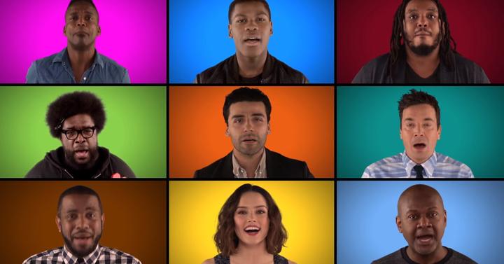 Így énekelnek Star Wars dalokat az új film szereplői