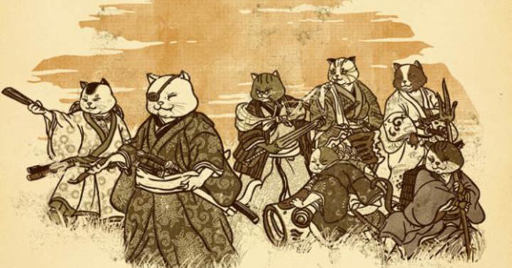 Napi cukiság: Szamuráj cicák