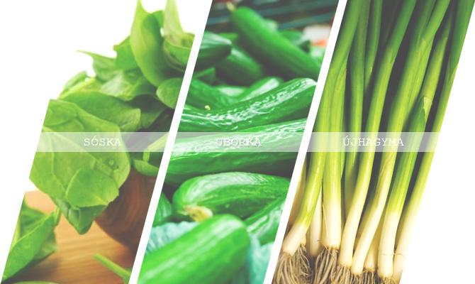 június zöldségek
