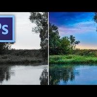 Photoshop kihívás - Hogyan lesz a színtelen tájképből képeslap?