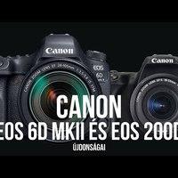 (ÉLŐ!) Canon EOS 6D Mk II és 200D újdonságai