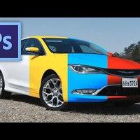 Photoshop tippek - Hogyan színezz át egy fehér autót?