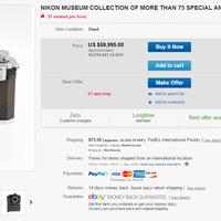 Ritka Nikon gyűjteményt árvereznek