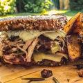 Bitang sertés szendvics