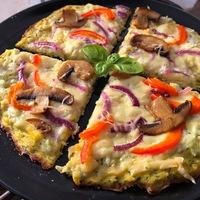 Gluténmentes vega pizza