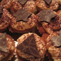Transzfer fólia próba - tiramisu muffin