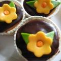Marcipános muffin a tavasz jegyében