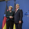 Angela Merkel jött, látott, beszélt és távozott
