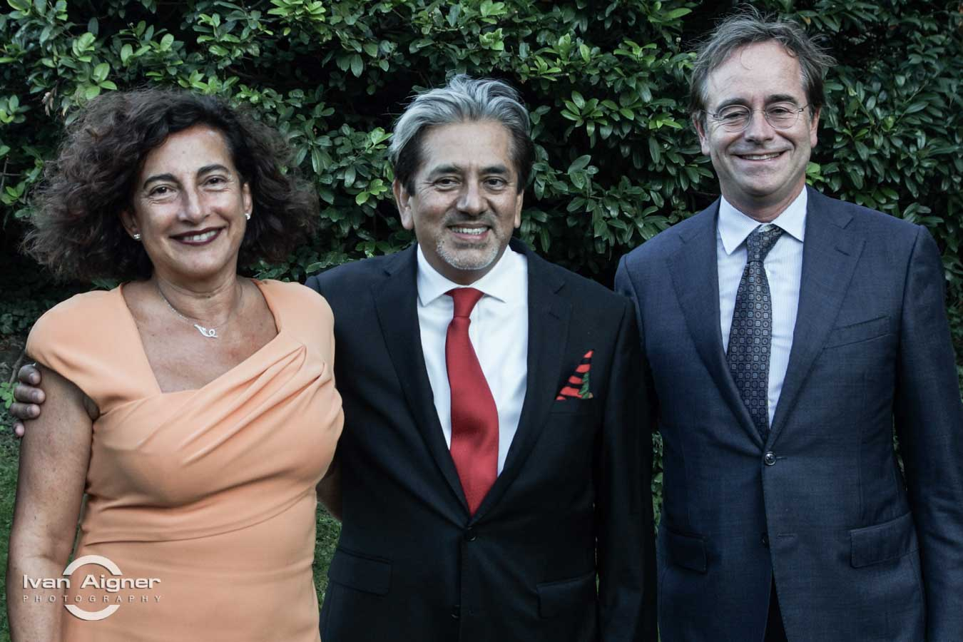 Őexc. David Nájera Rivas mexikói és Őexc. Verónica Chahin chilei és Őexc. René Enrico van Hell holland nagykövet