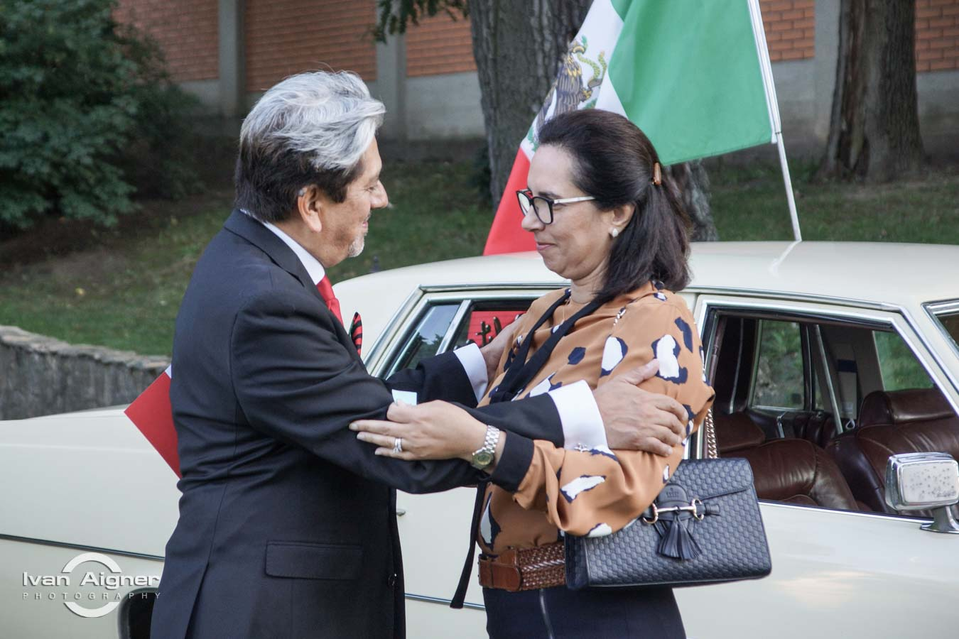 Őexc. David Nájera Rivas mexikói és Őexc. Karima Kabbaj marokkói nagykövet