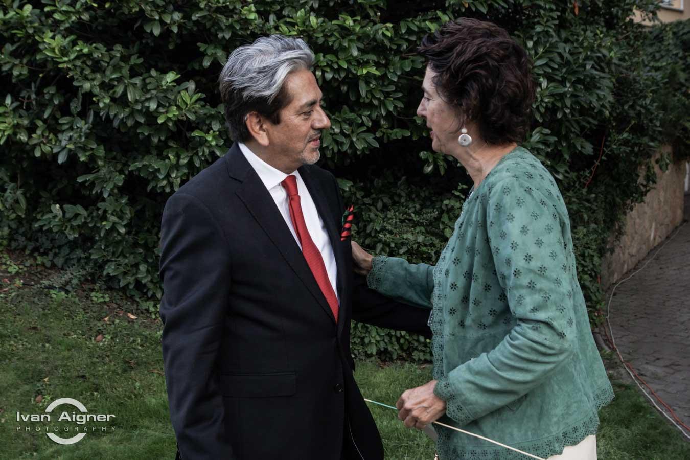 Őexc. David Nájera Rivas mexikói és Őexc. Anunciada Fernández de Córdova spanyol nagykövet