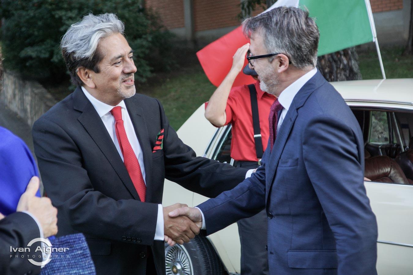 Őexc. David Nájera Rivas mexikói és Kocsis István, a Svájci Nagykövetség tanácsosa