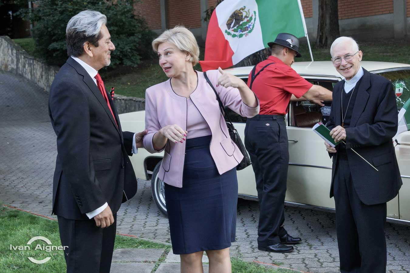 Őexc. David Nájera Rivas mexikói és Őexc. Liubov Nepop ukrán nagykövet