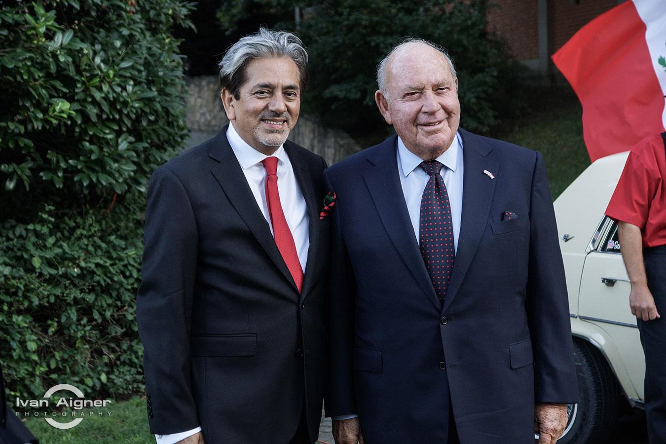 Őexc. David Nájera Rivas mexikói és Őexc. David B. Cornstein amerikai nagykövet