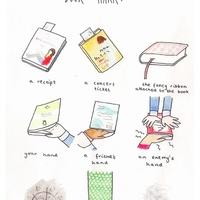 Hétköznapi tárgyak, mint könyvjelzők