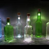 Üres borosüvegekből LED lámpa