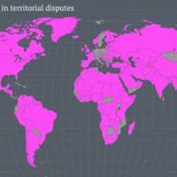 A világ területi vitákban érintett országai